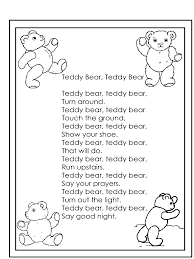 teddy bear teddy bear nursery rhyme google search nursery