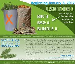 yard waste policy reminder and christmas tree pick up