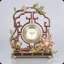 decor strongwater chrysanthemum clock with