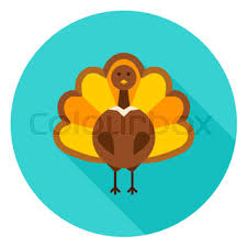 turkey dinner circle icon vector illustration thanksgiving