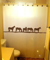 wild horses shower curtain western theme bathroom decor kids