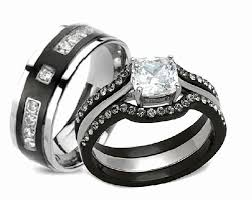 black wedding band sets black titanium wedding band sets luxury wedding rings black