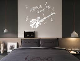 large music is my life guitar wall quote art wall stickers uk sh95