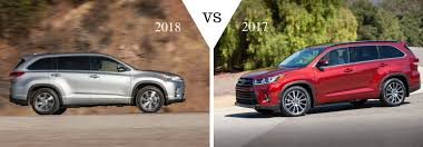 latest toyota 2018 toyota highlander vs 2017 toyota highlander comparison