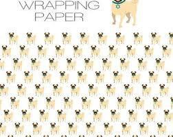 hanukkah wrapping paper pug wrapping paper etsy