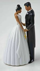 ty wilson hispanic bride and groom wedding cake topper figurine