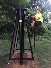 a wall climber outdoor