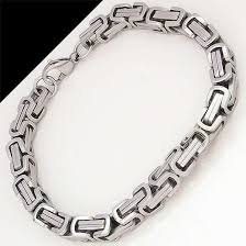 stainless steel bracelet links images 316l stainless steel quot byzantine link quot bracelet blown biker jpg