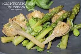 cuisiner des artichauts poêlée d artichauts poivrade fèves et asperges vertes cuisiner l