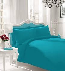 plain dyed duvet cover bedding set single double super king in