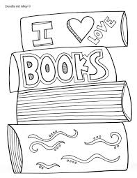Book Coloring Pages I Love Books Vitlt Com Books Coloring Page