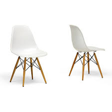 Overstock Com Chairs Wood Leg White Accent Chairs Set Of 2 Overstock Shopping