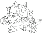 bowser jr coloring page free printable coloring pages