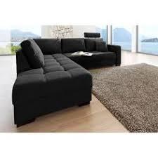 canape angle noir convertible canapé d angle panoramique en pu blanc et tissu noir chiné luberon 6