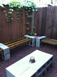 cinder block furniture backyard nana u0027s workshop