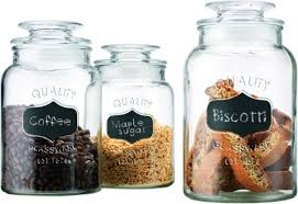 kitchen glass canisters with lids buy set of 3 clear glass chalkboard canister jars with