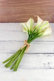 calla lily home decor touch hand tied calla blush u0026 cream lily wedding bouquet