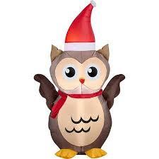 owl christmas christmas decor 3 5 airblown owl christmas