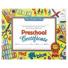 preschool certificates preschool certificate blocks