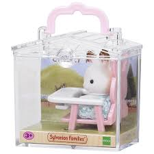 Baby Chair Clips Onto Table Sylvanian Families Rabbit On Baby Chair Baby Carry Case Amazon Co