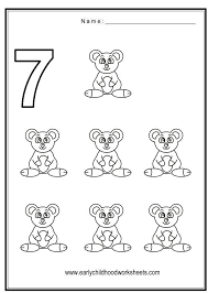 coloring numbers animals theme