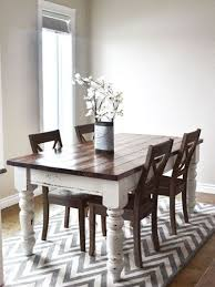 best 25 two tone table ideas on pinterest refinished table