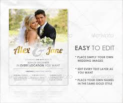 wedding poster template 21 wedding flyer templates free sle exle format