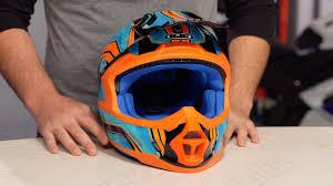 motocross helmets with goggles hjc fg mx piston helmet review at revzilla com youtube