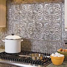 Best Tin Tile Backsplash Images On Pinterest Tin Tiles - Punched tin backsplash