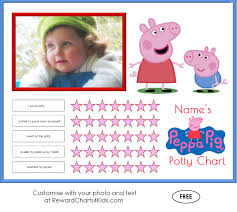 peppa pig potty training charts