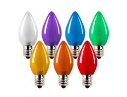 Decorative Led Lights For Homes C7 Led Bulbs Ceramic Style Replacement Christmas Light Bulbs 4