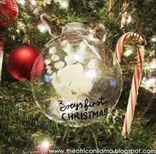 diy first christmas ornament mitten handprint decking the halls
