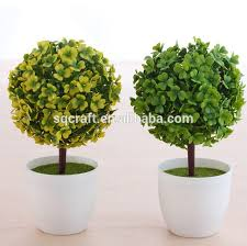 artificial potted plant plastic table small plant pots artificial
