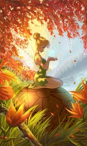 tinkerbell wallpaper fall wallskid