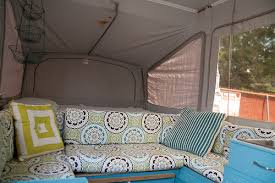 Pop Up Camper Curtains Coleman Maria And John U0027s Remodeled Pop Up Camper Diy Del Ray