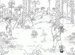 free kids hunting coloring page coloring home