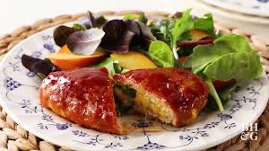 rachael ray thanksgiving meatloaf turkey meat loaf pockets with peach barbecue glaze