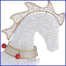 Outdoor Christmas Decorations Horse And Carriage by Gold White Lighted Horse Carriage Display Sculpture Outdoor
