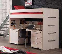 lit bureau adulte lit mezzanine contemporain coloris bouleau clair melby lit avec lit