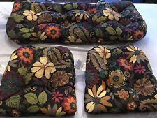 Wicker Settee Cushion Set Wicker Chair Floral Patio U0026 Garden Furniture Cushions Ebay