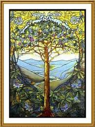 Louis Comfort Tiffany Stained Glass Louis Comfort Tiffany Tree Of Life From Stained Glass Counted