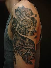 mechanical gears and clock tattoo designs photo 1 photo