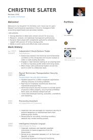 Air Force Resume Samples by Trader Resume Samples Visualcv Resume Samples Database