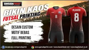 desain kaos futsal di photoshop jasa bikin kaos futsal printing wilayah grobogan purwodadi garuda