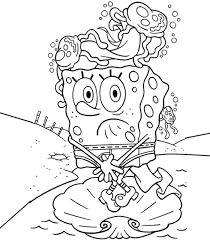 spongebob squarepants color pages coloring home