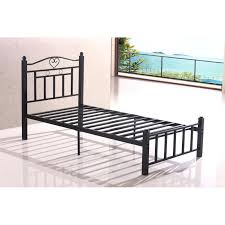 Iron Single Bed Frame Single Metal Bed Frames Single Gloss White Metal Single