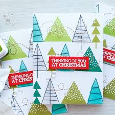 caring hearts card drive u2013 stamped christmas tree pattern video