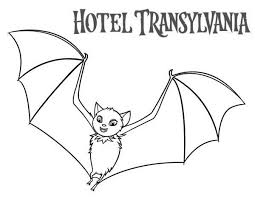 coloring page of a bat count dracula become a bat in hotel transylvania coloring pages