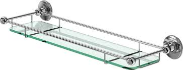 Glass Shelves Bathroom by Burlington Bathrooms Glass Shelf With Rail 55cm Bathroomand Co Uk