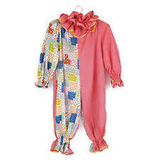 Kids Halloween Clown Costumes Suit Clowns U0026 Circus Unisex Costumes Ebay